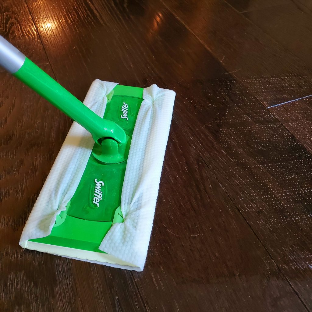 Swiffer mop with Scentiva mopping cloth