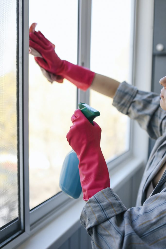 Spring Cleaning Windows in the Bedroom